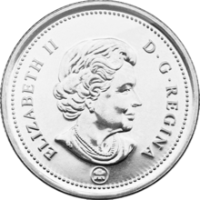 Canadian 25 Cent Coin
