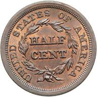 U.S. Half Cent Coin